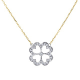 "Small Pavé Diamond ""Kelly"" Clover Pendant"