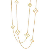 "18k Yellow Gold & Diamond ""Lotus"" Necklace"