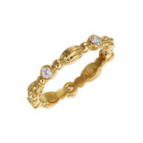 "18k Yellow Gold & Diamond ""Nutmeg"" Band Ring"