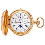 Gustave Sandoz Grand Complication Yellow Gold Pocket Watch