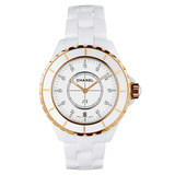 ​J12 38mm White Ceramic & Rose Gold (H2180)