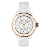 J12 Small Quartz White Ceramic & Rose Gold (H2181)