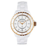 J12 33mm White Ceramic & Rose Gold (H2181)