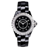 J12 Small Quartz Black Ceramic & Diamond (H2427)
