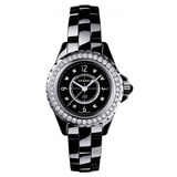 J12 Extra Small Quartz Black Ceramic (H2571)