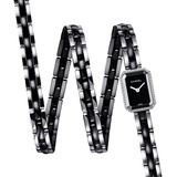 Premiére Triple Row Quartz Black Ceramic & Diamonds (H3058)