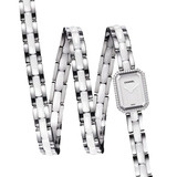 Premiére Triple Row Quartz White Ceramic & Diamonds (H3059)