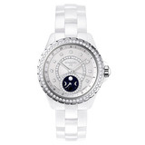 J12 Moonphase White Ceramic (H3405)