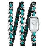 ​Premiére Rock Steel & Turquoise Leather (H4559)
