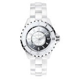 "J12 38mm ""Mirror"" White Ceramic (H4862)"