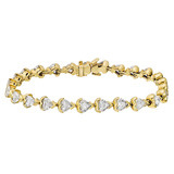Heart-Shaped Diamond Line Bracelet (~5.2 ct tw)