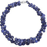 Staggered Iolite Bead Necklace