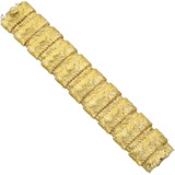 Piccini Italy 18k Yellow Gold Wide Link Bracelet