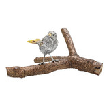Silver Songbird on Branch