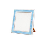 "Silver Frame with Sky Blue Enamel (3 x 3"")"