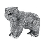 Large Sterling Silver Bear Sculpture