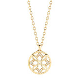 "18k Gold & Diamond ​""Aberdeen"" Pendant"
