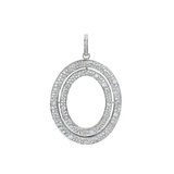 "Large ""Signature"" Oval Diamond Pendant"