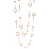 Mother-of-Pearl &amp; Diamond Long Necklace