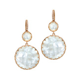 Mother-of-Pearl Drop Earrings with Diamond