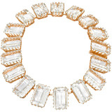 Emerald-Cut Rock Crystal Necklace with Diamond