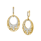 "18k Gold & Diamond ""Liberte"" Drop Earrings"