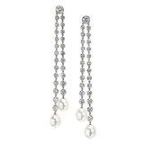 Diamond & South Sea Pearl Double Drop Earrings