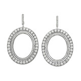 "Medium ""Signature"" Oval Diamond Drop Earrings"