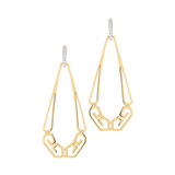 "18k Gold ""Metropolis"" Pear-Shaped Drop Earrings"