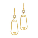 "18k Gold ​""Metropolis"" Drop Earrings"