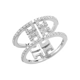 "18k White Gold & Diamond ""Metropolis Sol"" Ring"