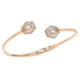 "18k Rose Gold & Diamond ""Montmarte"" Open Bangle"