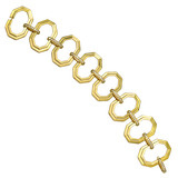 18k Gold Octagonal Link Bracelet with Diamond