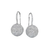 Pav Diamond Ball Drop Earrings