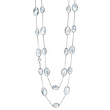&quot;Bubble&quot; Rock Crystal &amp; Mother-of-Pearl Long Necklace