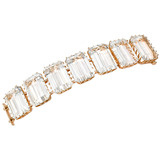 Emerald-Cut Rock Crystal Bracelet with Diamond