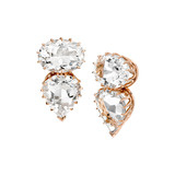18k Rose Gold & Rock Crystal Earrings