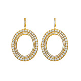 "​18k Yellow Gold & Diamond ""Signature"" Drop Earrings"