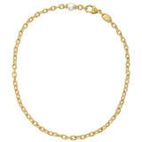 18k Gold & Pearl Chain Link Necklace