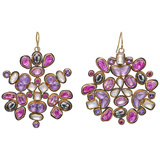 "Multicolored Gemstone ""Kaleidoscope"" Drop Earrings"