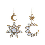 "​Moonstone ""Sun & Moon"" Drop Earrings"