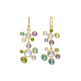 ​Playful Multicolored Gemstone Double Drop Earrings