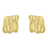"18k Yellow Gold ""Caviar"" Scroll Earclips"