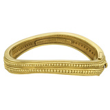 18k Yellow Gold Beaded Bangle Bracelet