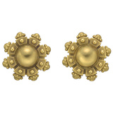​18k Yellow Gold Domed & Crenulated Earclips