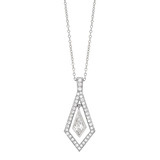 Kite-Shaped Diamond Pendant Necklace
