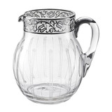 Crystal &amp; Silver Water Pitcher