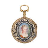 Madame de Pompadour Portrait Pocket Watch