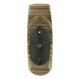 """Geneva"" Mokume Money Clip with Macassar Ebony"