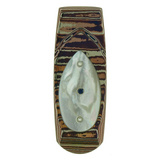&quot;Geneva&quot; Mokume Money Clip with Mother-of-Pearl